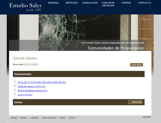 Estudio Sales - Intranet